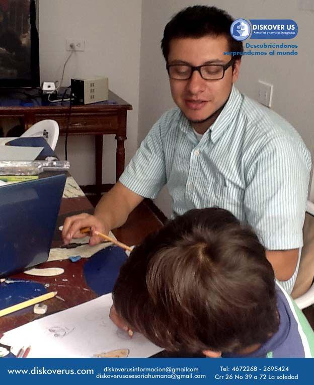 Miguel en clases de cartoon.
