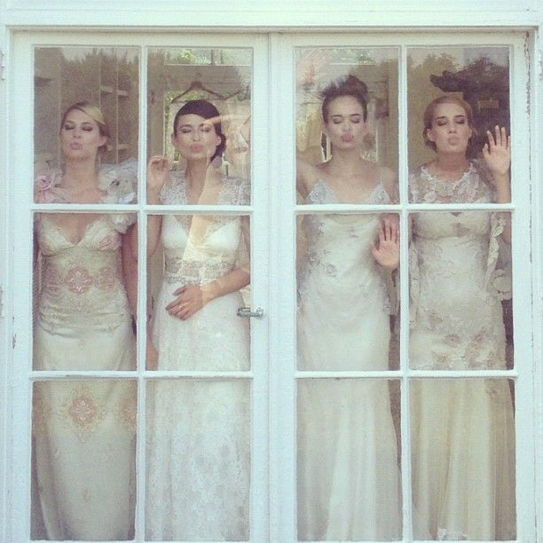 Wedding gowns by Claire Pettibone photography by Elizabeth Messina