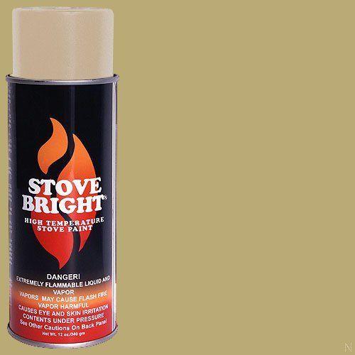 Stove Bright Ti-8158 High Temperature Paint, 1200 Degree F Operating Temperature Range, 12 Oz Aerosol, Surf Sand, 2015 Amazon Top Rated High Temperature Caulk #BISS