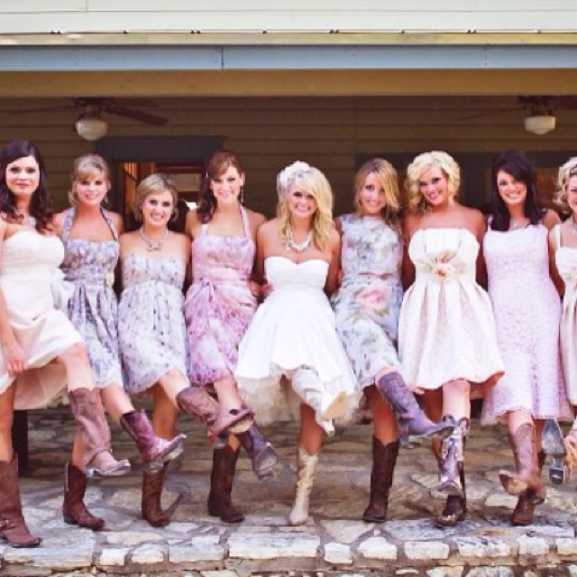 Love The Idea For Bridesmaid Dresses.... Just Not So Many