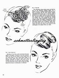 Finger waves #hair #1950s