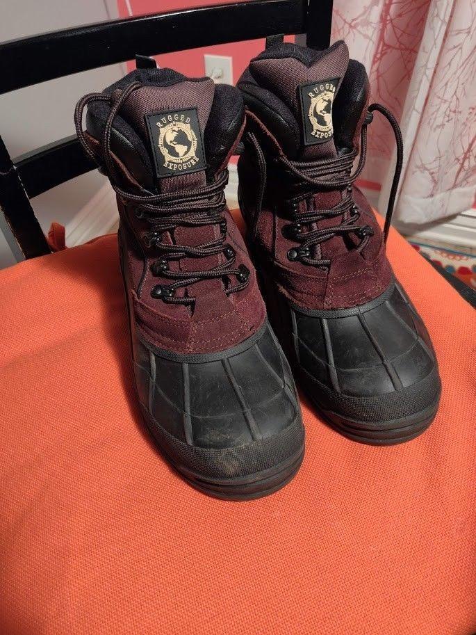 6d681b154d6 Rugged Exposure Men's Waterproof Winter Boots Dark Brown size 10 ...
