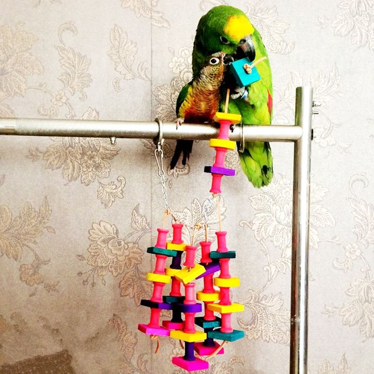 High Quality Colorful Parrot Toys Macaw Cage Chew Bird Toys For Parrots Pet Bird Conure Swing Chew Toys