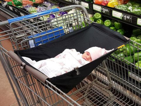 Binxy Baby Shopping Cart Hammock- Multiple Colors - Cute as a Button Baby Boutique - 8