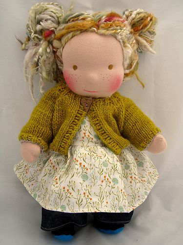 Waldorf doll with blond mohair | Flickr - Photo Sharing!