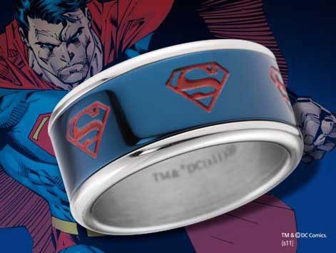 Anillo Superman, logo azul