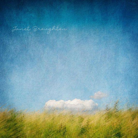 Lensbaby Velvet 85 Textured Landscape Photo Minimal Landscape Fine Art Photograph A Blue Sky Clouds Fine Art Landscape Photography Photographic Art Prints