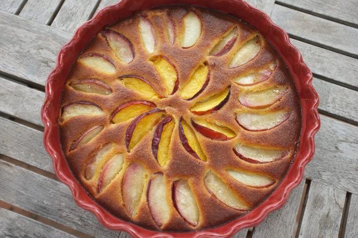 recette sans gluten de gâteau amande et brugnon - glutenfree almond and brugnon