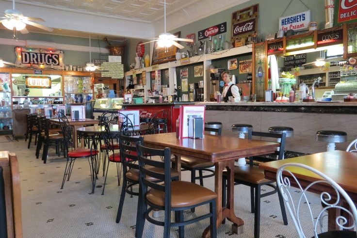 Mike's On Main in Hendersonville, NC. Great burgers and sandwiches in a nostalgic pharmacy/diner.