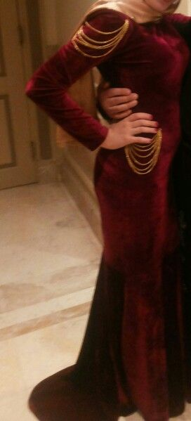 My dark red occasion dress ♥ #designing #fashion #gorgeous #hijabi #hijab_dress