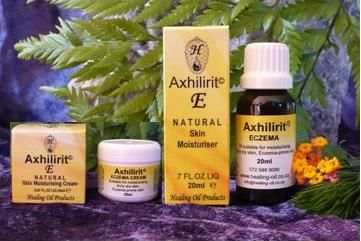 Axhilirit E Moisturizing Products suitable for dry, itchy and eczema-prone skin. Can be used on all types of eczema. www.healing-oil.co.za