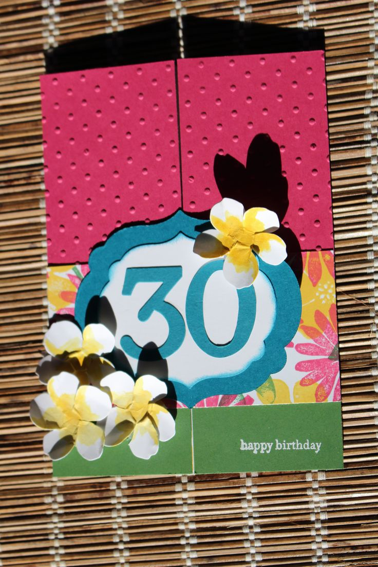 30th Birthday Card | Embellished with Sentiment, Rebecca Doumouras