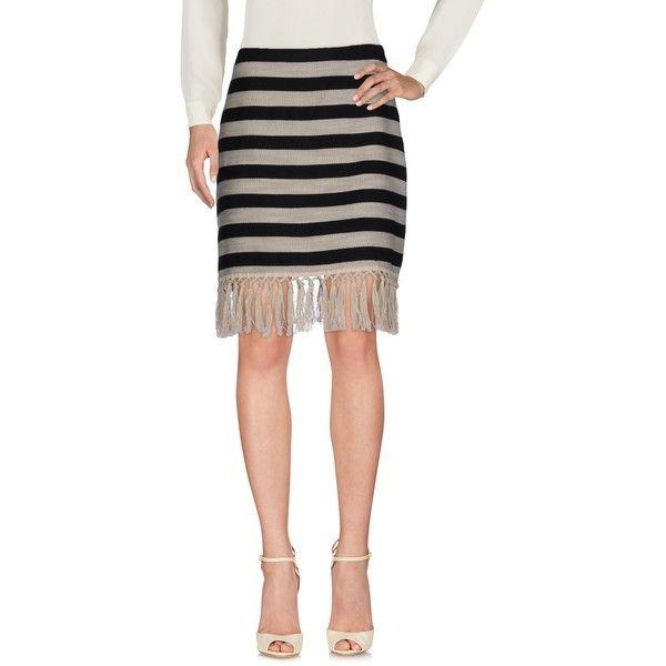 Pf Paola Frani Mini Skirt ($99) ❤ liked on Polyvore featuring skirts, mini skirts, black, short fringe skirt, striped mini skirt, mini skirt, short mini skirts and fringe mini skirt
