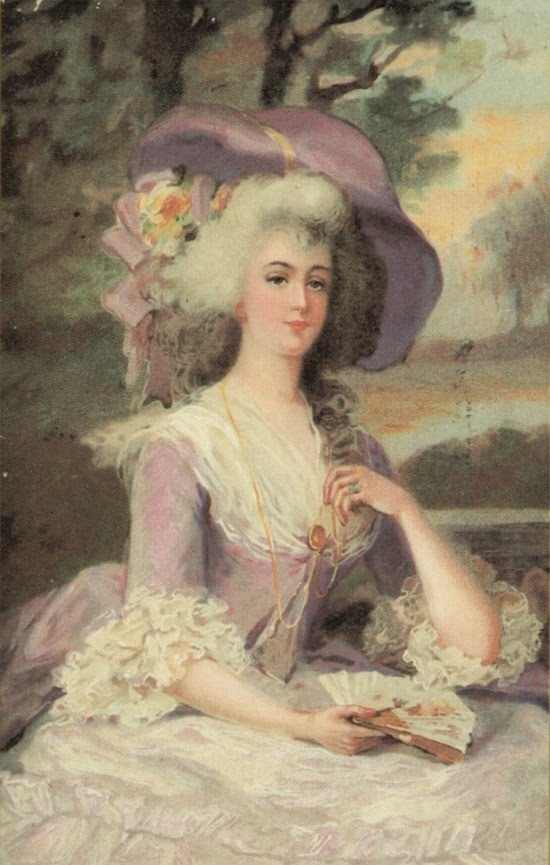 Rococo style, lovely in lavender