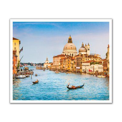 JP London POS2409 uStrip Venice Canal Skyline Italy Peel and Stick Removable Wall Decal Mural