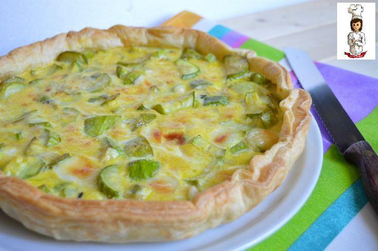 Torta+salata+di+zucchine+e+stracchino