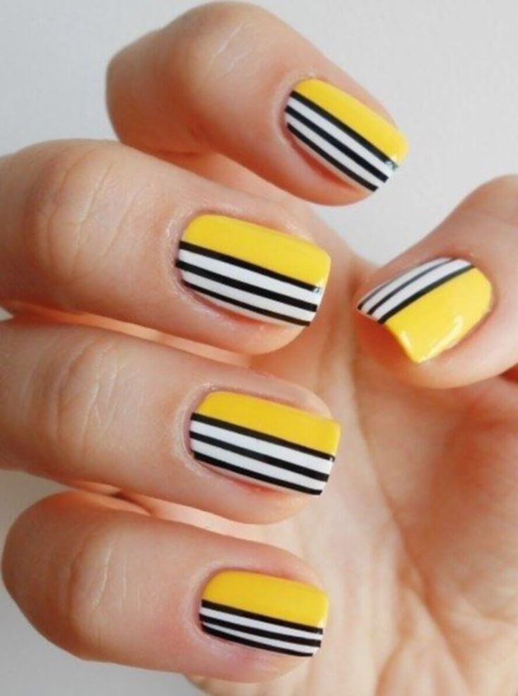 Best 25+ Yellow nail art ideas on Pinterest | Yellow nails ...