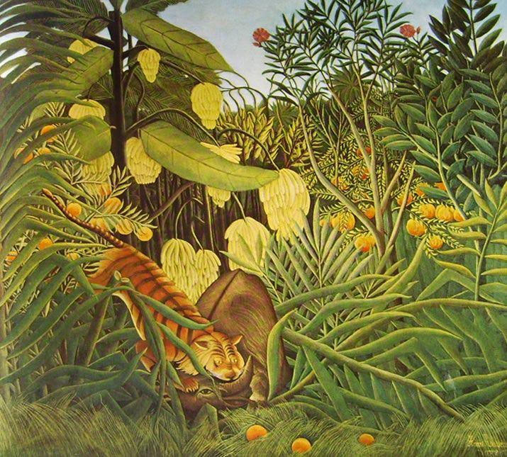 Rousseau-il doganiere  bufalo-assalito-da-una-tigre