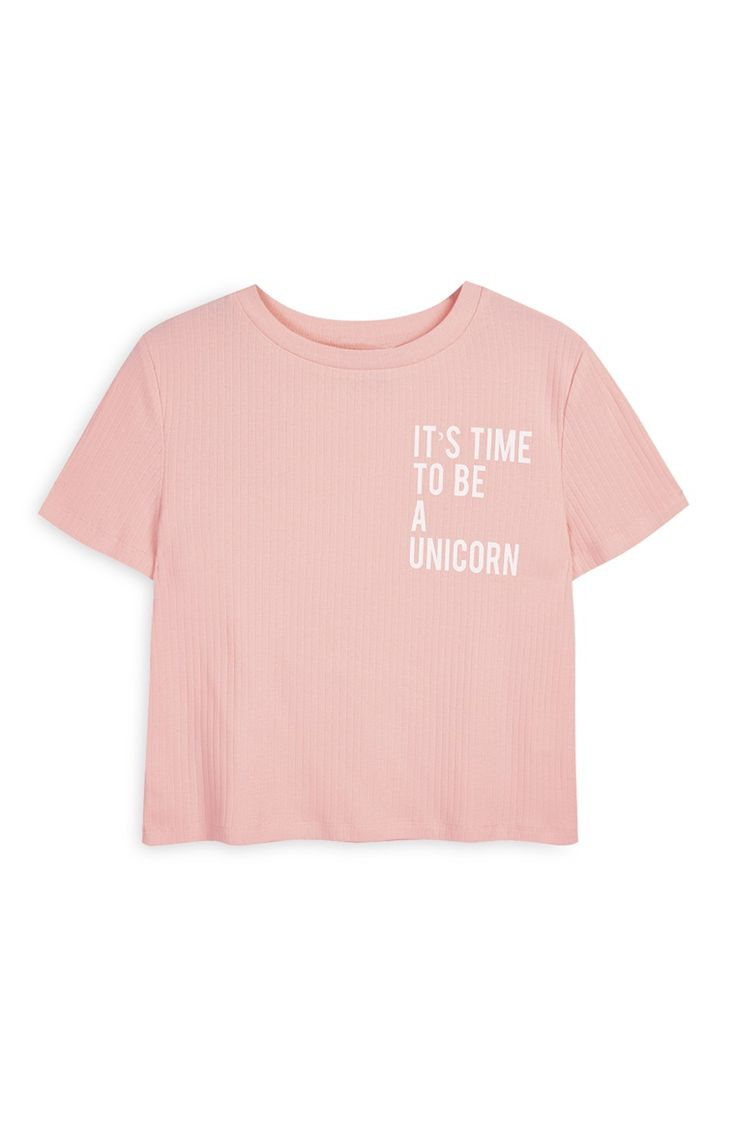 Pink Crop Unicorn Top