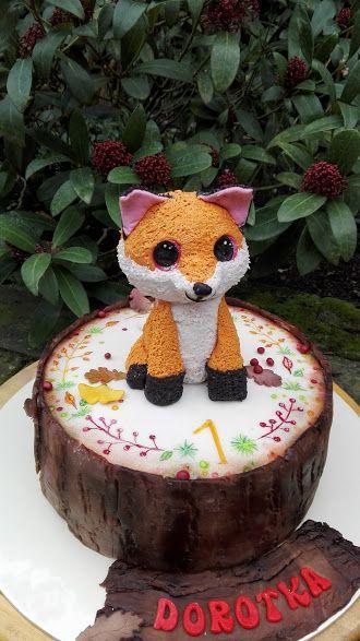 Fox baby cake