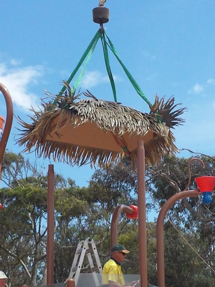 #Vortex #Splashpad at Discovery Holiday Park Pambula Beach - bringing in the roof!