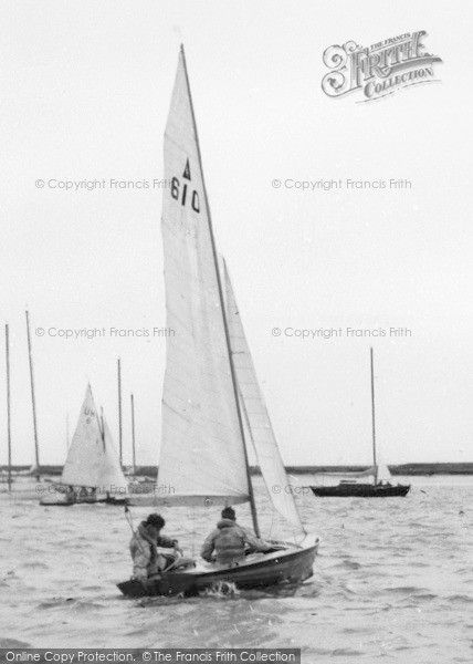 Burnham-on-Crouch, Sailing on the River Crouch c1960 #sailing #yachting #nostalgia
