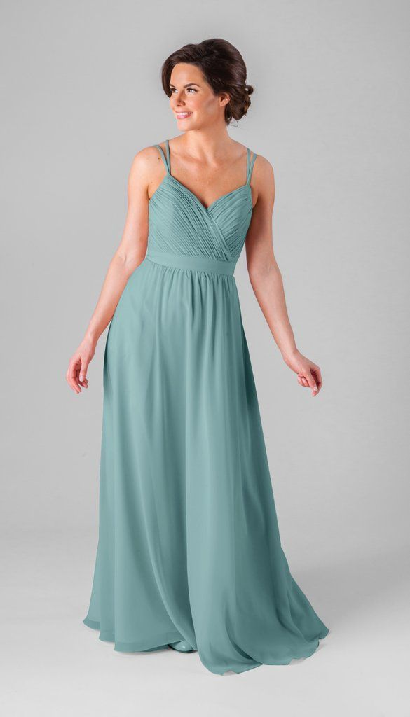 2091f4d16ed NEW Deep Sea bridesmaid dress color from Kennedy Blue! Featured on our luxe  chiffon gown Mackenzie