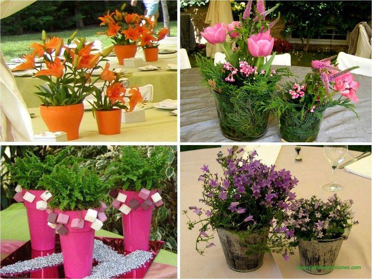 Centros de mesa realizados por Jardines y Rincones Paisajismo