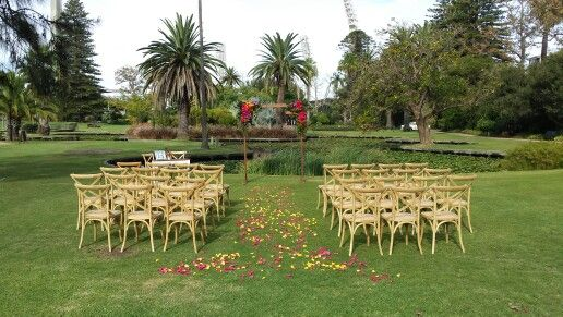 """Love this set up by """"heavens strings and heart strings"""" in the perth queens gardens."""
