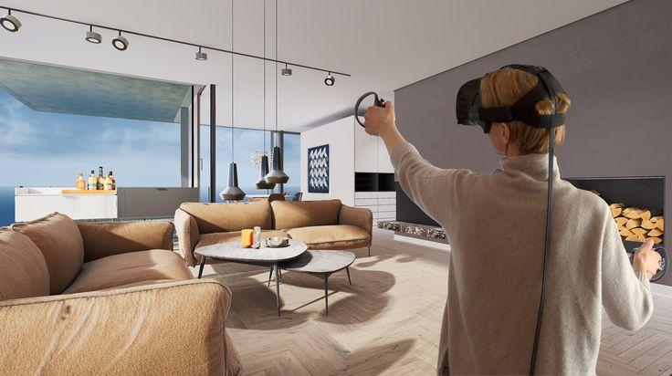 Architectural Visualization through Virtual Reality – customer archviz live demo – raumdichter