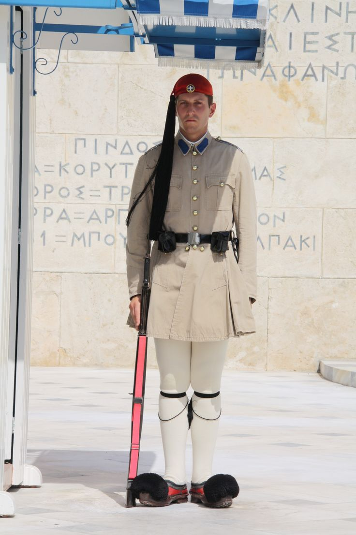 Athens - Greece: guard in front of presidential palace