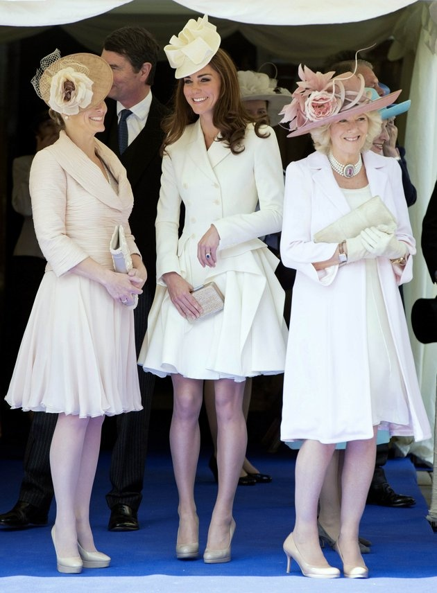 Britain's Catherine, Duchess of Cambridge, Camilla, Duchess of Cornwall and Sophie, Countess of Wessex attend the annual Order of the Garter Service at St George's Chapel at Windsor Castle inHats, Royal Families, Alexander Mcqueen, Duchess Of Cambridge, The Duchess, Garters Service, Katemiddleton, Kate Middleton, Catherine Duchess