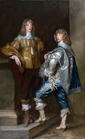The young Lord Stuart brothers, Charles I's kinsmen, killed in battle - oh don't they look so proud and haughty! When you meet them in heaven (or hell) please tell them they died for nothing.