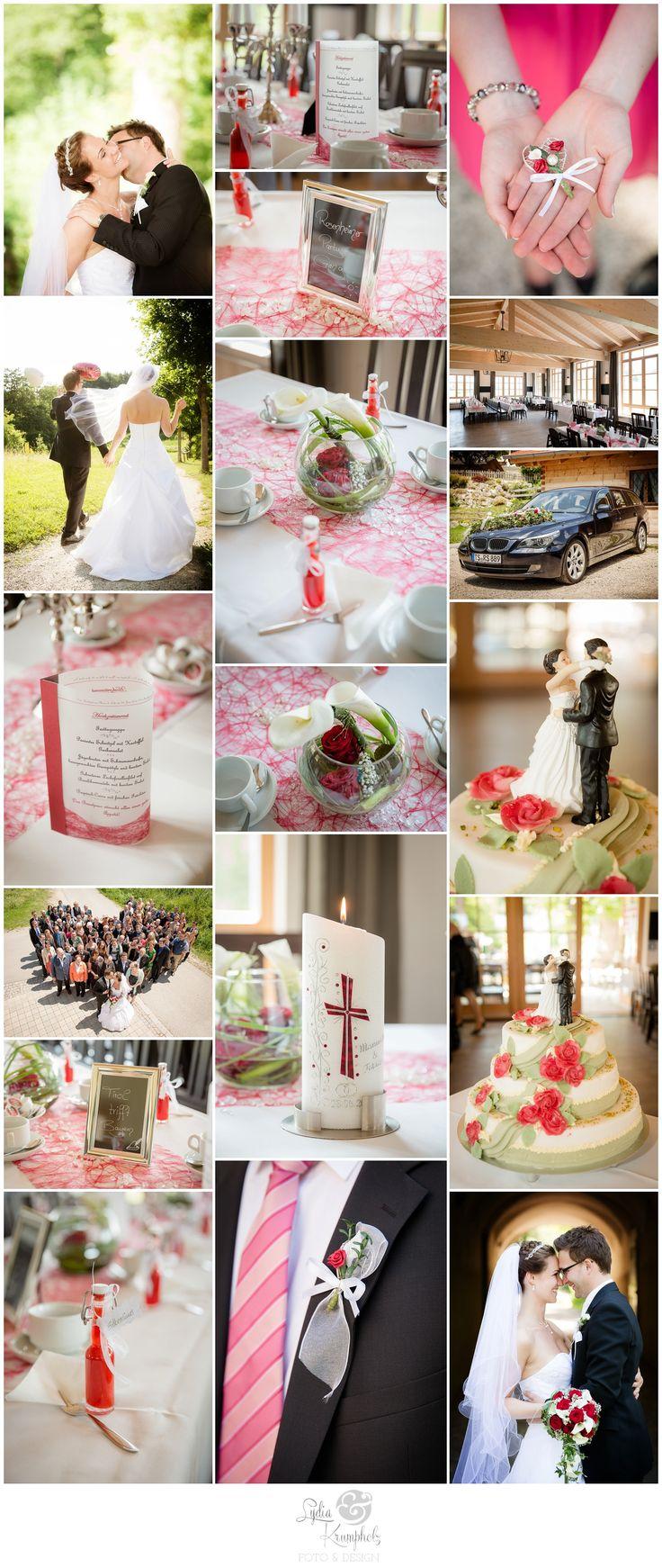 Klassische Hochzeitsdekoration mit bayerischem Touch  #hochzeitsdeko #hochzeitskonzept #weddingdecoration #classic #red #white #klassisch #rot #weiss