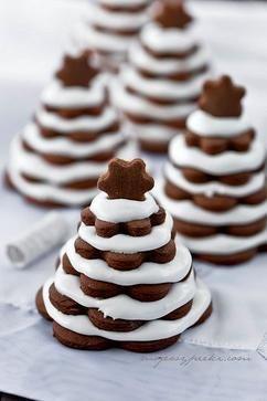 Leuke kerstboom koekjes.