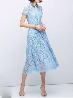 Beaded Lace Cotton-blend Midi Dress