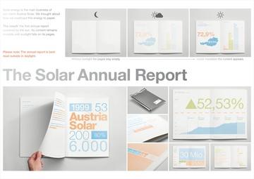 Gold - Creative Use of Technologies, Der Solar-Jahresbericht, Austria Solar, Serviceplan Campaign 3 GmbH