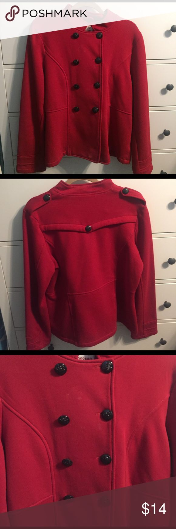 Red Pea Coat Cloth pea coat in great condition. It got lots of compliments! Mossimo Supply Co. Jackets & Coats Pea Coats