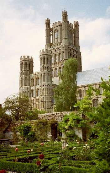 The 12th century Ely Cathedral, Cambridgeshire, England.