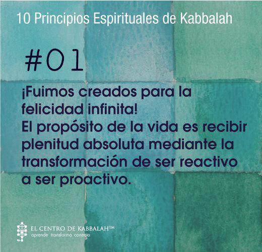 ¡Fuimos creados para la felicidad infinita! El propósito de la vida es recibir plenitud absoluta mediante la transformación de ser reactivo a ser proactivo. #Kabbalah