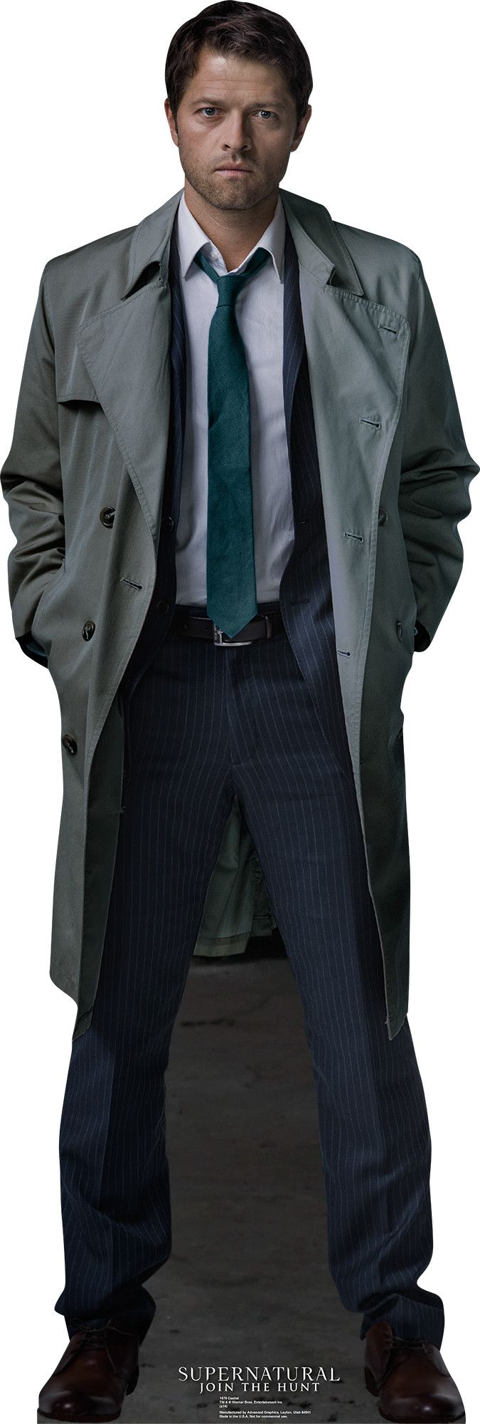 Castiel - Supernatural Cardboard Standup... Oh have I got plans with this....