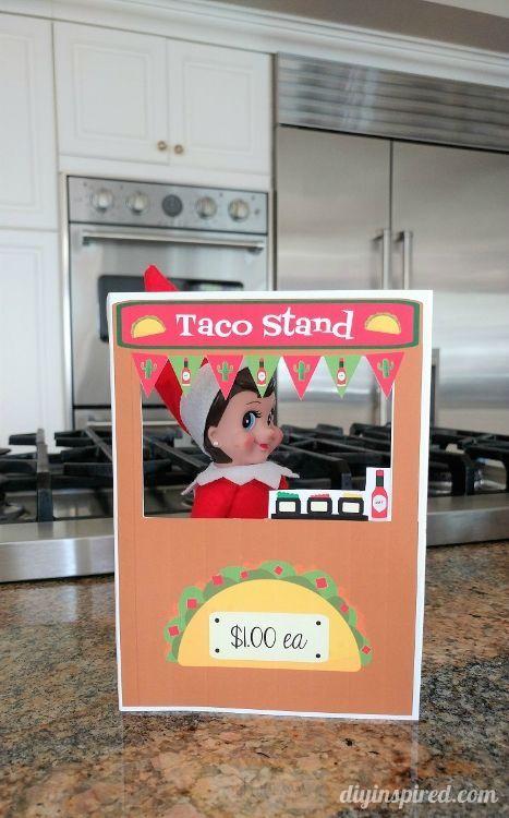Elf on a Shelf Printable Taco Stand