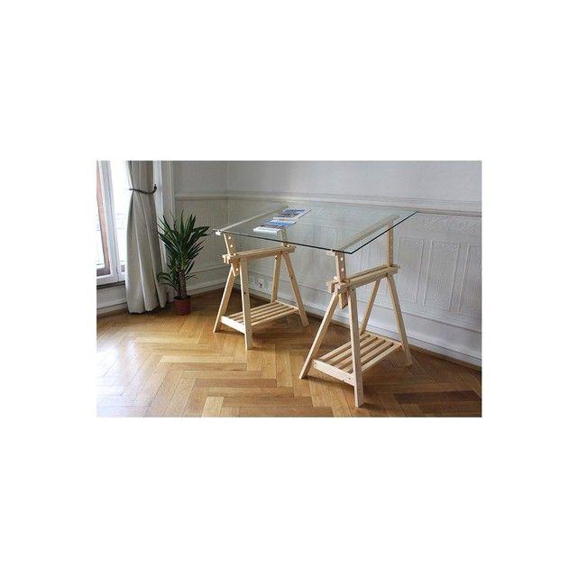 plaque de bureau en verre hoze home. Black Bedroom Furniture Sets. Home Design Ideas