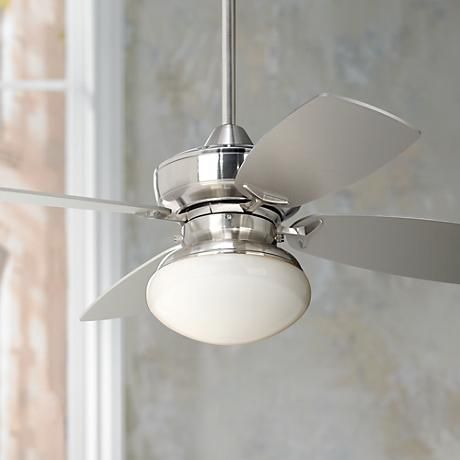 "36"" Casa Vieja Outlook Brushed Nickel Ceiling Fan"