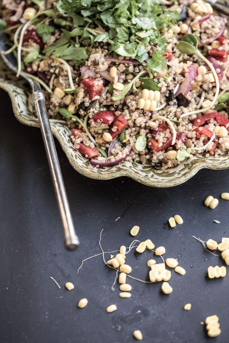 Quinoa Lentil And Smokey Eggplant Salad – Cook Republic