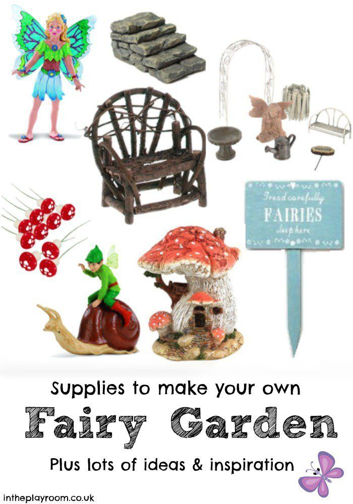Fairy garden accessories, ideas of supplies to buy to make your own fairy garden