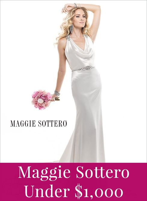 Maggie Sottero wedding dresses under 1,000!