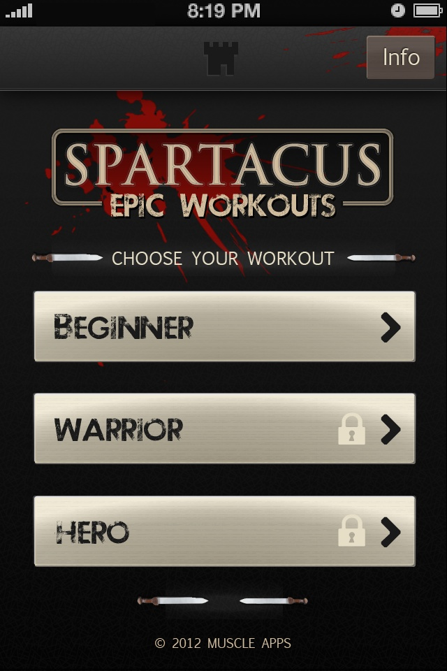 Spartacus Epic Workouts - New hobby project by Nick Skelton and myself.