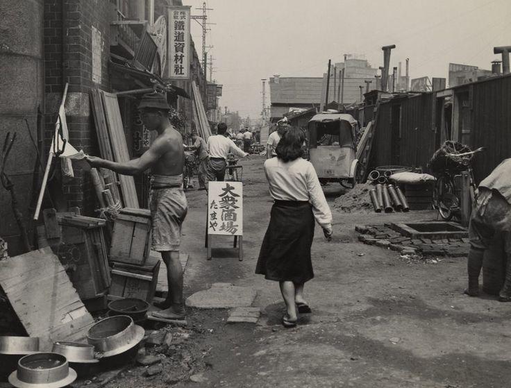 A view of a typical slum neighborhood, Tokyo, 1949 by John W. Bennett