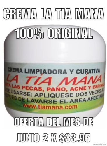 Acne and Blemish Treatments: Set De 2 Cremas La Tia Mana ?? -> BUY IT NOW ONLY: $33.95 on eBay!